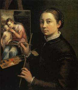 zelfportret van Sofonisba Anguissola (1556)